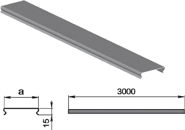 Крышки применяются для лотков шириной: 50мм